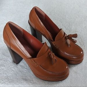 Marc by Marc Jacobs Brown Leather Oxford Heels